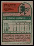 1975 Topps #179  Tom Bradley  Back Thumbnail