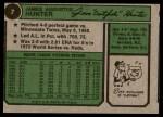 1974 Topps #7  Catfish Hunter  Back Thumbnail