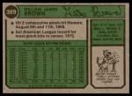 1974 Topps #389  Gates Brown  Back Thumbnail