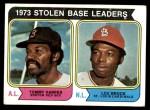 1974 Topps #204   -  Tommy Harper / Lou Brock SB Leaders   Front Thumbnail