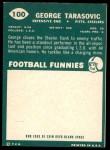 1960 Topps #100  George Tarasovic  Back Thumbnail