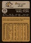 1973 Topps #516  Danny Walton  Back Thumbnail