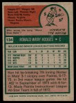 1975 Topps #134  Ron Hodges  Back Thumbnail