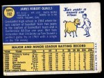 1970 Topps #192  Jim Qualls  Back Thumbnail