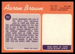 1970 Topps #202  Aaron Brown  Back Thumbnail