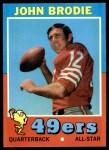 1971 Topps #100  John Brodie  Front Thumbnail