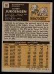 1971 Topps #50  Sonny Jurgensen  Back Thumbnail