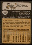 1973 Topps #392  Dick Drago  Back Thumbnail
