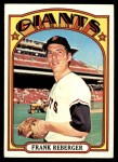 1972 Topps #548  Frank Reberger  Front Thumbnail