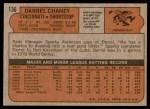 1972 Topps #136  Darrel Chaney  Back Thumbnail