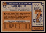 1976 Topps #297  Larry Ball   Back Thumbnail