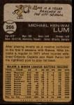1973 Topps #266  Mike Lum  Back Thumbnail
