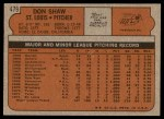 1972 Topps #479  Don Shaw  Back Thumbnail