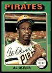 1975 Topps #555  Al Oliver  Front Thumbnail