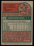 1975 Topps #98  Rich Folkers  Back Thumbnail