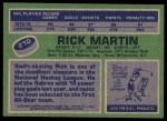 1976 Topps #210  Rick Martin  Back Thumbnail