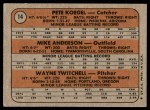 1972 Topps #14   -  Mike Anderson / Pete Koegel / Wayne Twitchell Phillies Rookies   Back Thumbnail