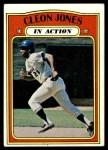 1972 Topps #32   -  Cleon Jones In Action Front Thumbnail