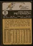 1973 Topps #82  Fritz Peterson  Back Thumbnail