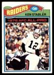 1977 Topps #110  Ken Stabler  Front Thumbnail