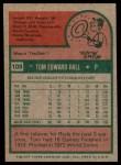 1975 Topps #108  Tom Hall  Back Thumbnail