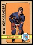 1972 Topps #110  Vic Hadfield  Front Thumbnail