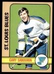 1972 Topps #163  Gary Sabourin  Front Thumbnail