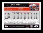 2005 Topps #10  Tom Brady  Back Thumbnail