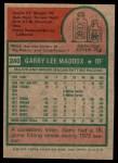 1975 Topps #240  Garry Maddox  Back Thumbnail