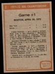 1972 Topps #2   Playoff Game 1 Back Thumbnail