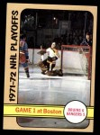 1972 Topps #2   Playoff Game 1 Front Thumbnail