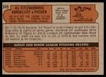 1972 Topps #349  Al Fitzmorris  Back Thumbnail