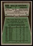1975 Topps #95  Willie Brown  Back Thumbnail