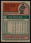 1975 Topps #67  Tug McGraw  Back Thumbnail