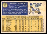 1970 Topps #602  Ted Savage  Back Thumbnail