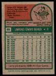 1975 Topps #49  Larry Dierker  Back Thumbnail