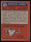 1973 Topps #261  Horace Jones  Back Thumbnail