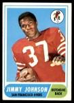 1968 Topps #61  Jimmy Johnson  Front Thumbnail