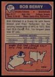 1973 Topps #437  Bob Berry  Back Thumbnail