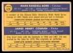 1970 Topps #429   -  Randy Bobb / Jim Cosman Cubs Rookies Back Thumbnail