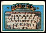 1972 Topps #106   Brewers Team Front Thumbnail