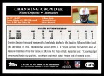 2005 Topps #5 T Channing Crowder  Back Thumbnail