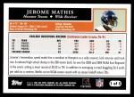 2005 Topps #1 T Jerome Mathis  Back Thumbnail