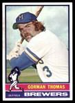 1976 Topps #139  Gorman Thomas  Front Thumbnail