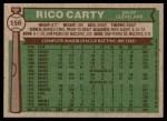 1976 Topps #156  Rico Carty  Back Thumbnail