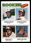 1977 Topps #473   -  Andre Dawson / Gene Richards / John Scott / Denny Walling Rookie Outfielders   Front Thumbnail