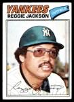 1977 Topps #10  Reggie Jackson  Front Thumbnail