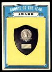 1972 Topps #625   Rookie of the Year Award Front Thumbnail