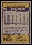 1979 Topps #115  Ken Anderson  Back Thumbnail