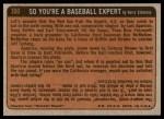 1972 Topps #300   -  Hank Aaron In Action Back Thumbnail